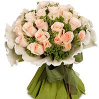 [플라워포유] 살구빛장미다발 (RM_RBC2005) [꽃다발/결혼기념일/크리스마스/프로포즈/화이트데이/발렌타인데이]