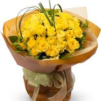[플라워포유] 노랑장미꽃다발2 [꽃다발/결혼기념일/크리스마스/프로포즈/화이트데이/발렌타인데이]