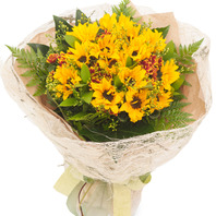 [플라워포유] 해바라기꽃다발 (RM_RBC4024) [꽃다발/결혼기념일/크리스마스/프로포즈/화이트데이/발렌타인데이]