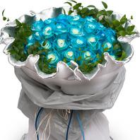 [플라워포유] [예약상품] 블루로즈꽃다발 (RM_RBC6023) [꽃다발/결혼기념일/크리스마스/프로포즈/화이트데이/발렌타인데이]