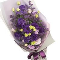 [플라워포유] 보라색 리시안 꽃다발 (RM_RBC7009) [꽃다발/결혼기념일/크리스마스/프로포즈/화이트데이/발렌타인데이]
