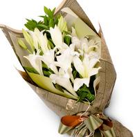 [플라워포유] 백합 꽃다발 (RM_RBC8004) [꽃다발/결혼기념일/크리스마스/프로포즈/화이트데이/발렌타인데이]