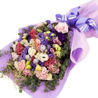 [플라워포유] 리시안사스꽃다발 (RM_RBC9030) [꽃다발/결혼기념일/크리스마스/프로포즈/화이트데이/발렌타인데이]