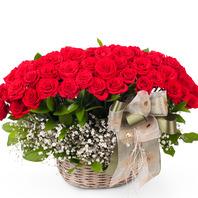 [플라워포유] 행복바구니 (RM_RAC1055) [꽃바구니/결혼기념일/크리스마스/프로포즈/화이트데이/발렌타인데이]