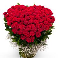 [플라워포유] 100송이 레드빛 사랑 [장미백송이/결혼기념일/크리스마스/프로포즈/화이트데이/발렌타인데이]