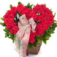 [플라워포유] 하트장미바구니 (RM_RAC1136) [꽃바구니/결혼기념일/크리스마스/프로포즈/화이트데이/발렌타인데이]
