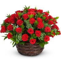 [플라워포유] 빨간장미와함께 (RM_RAC1154) [꽃바구니/결혼기념일/크리스마스/프로포즈/화이트데이/발렌타인데이]