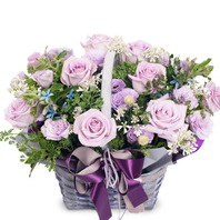 [플라워포유] 꽃바구니 (RM_RAC7081) [꽃바구니/결혼기념일/크리스마스/프로포즈/화이트데이/발렌타인데이]