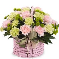 [플라워포유] 핑크혼합바구니 (RM_RAC9115) [꽃바구니/결혼기념일/스승의날/어버이날/카네이션]
