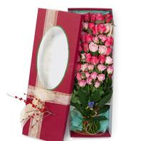 [플라워포유] 핑크혼합장미상자 (RM_RCB2002) [꽃상자/결혼기념일/크리스마스/프로포즈/화이트데이/발렌타인데이/로즈데이/기념일/특별한날/생일선물]