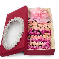 [플라워포유] 장미혼합박스 (RM_RCB2032) [꽃상자/결혼기념일/크리스마스/프로포즈/화이트데이/발렌타인데이/로즈데이/기념일/특별한날/생일선물]